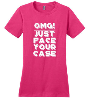 Postal Worker Tees Women's Dark Fuchsia / S OMG Just face your case Women's Tshirt