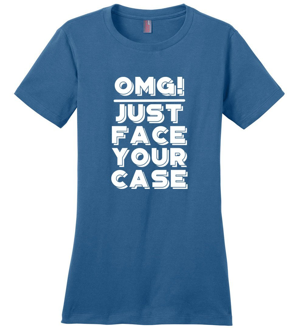 Postal Worker Tees Women's Maritime Blue / S OMG Just face your case Women's Tshirt