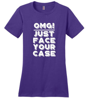 Postal Worker Tees Women's Purple / S OMG Just face your case Women's Tshirt