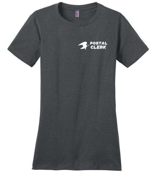 Postal Worker Tees Women's Charcoal / S Postal Clerk left chest design Women's Tshirt