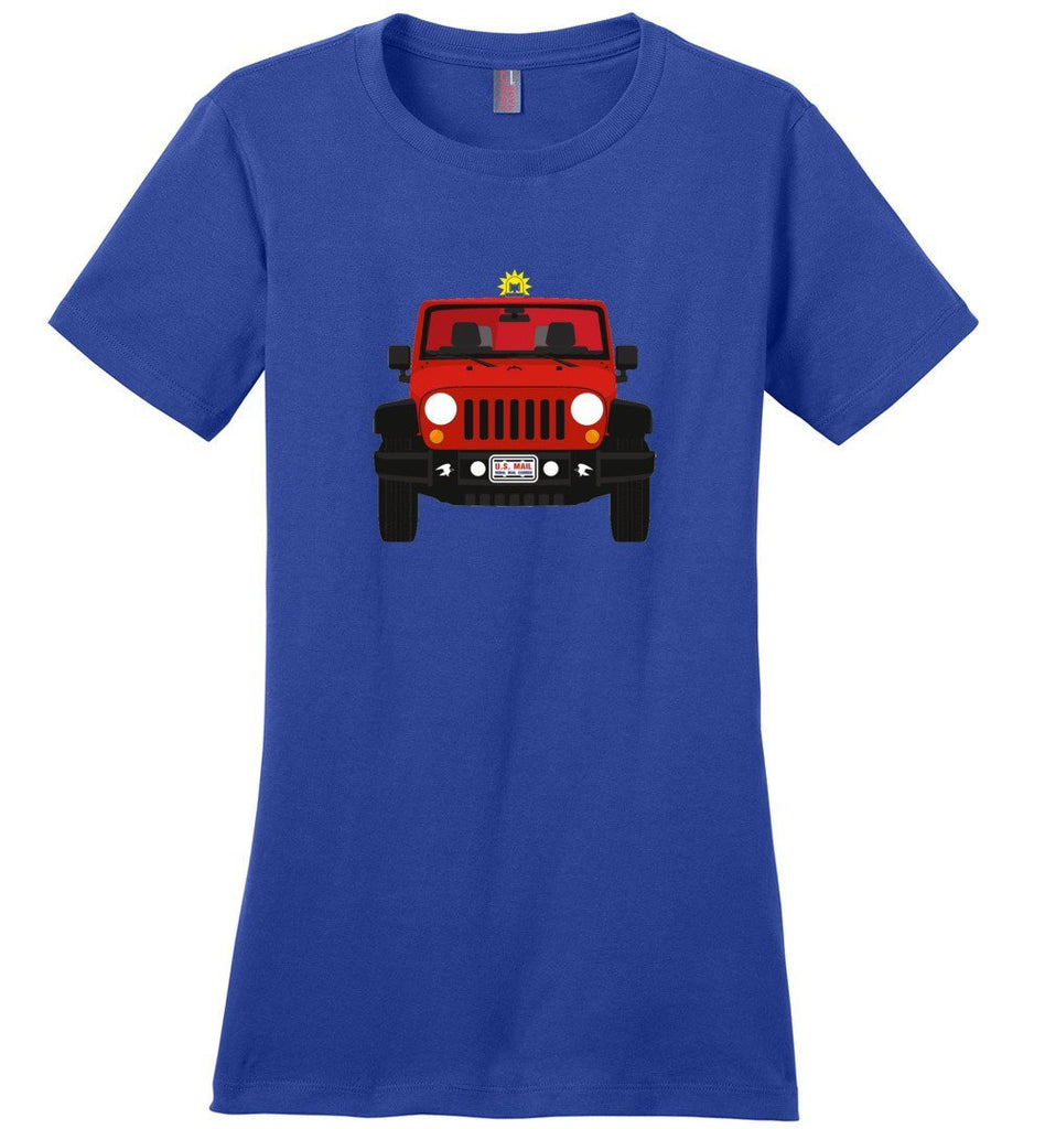 Postal Worker Tees Women's Deep Royal / S Red Rural Carrier Mail Jeep Women's Tshirt
