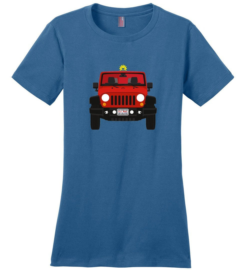 Postal Worker Tees Women's Maritime Blue / S Red Rural Carrier Mail Jeep Women's Tshirt