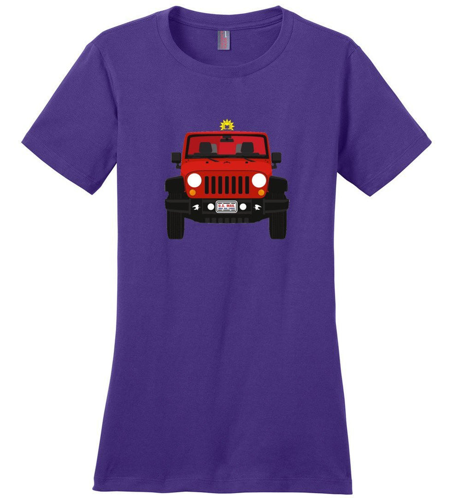 Postal Worker Tees Women's Purple / S Red Rural Carrier Mail Jeep Women's Tshirt