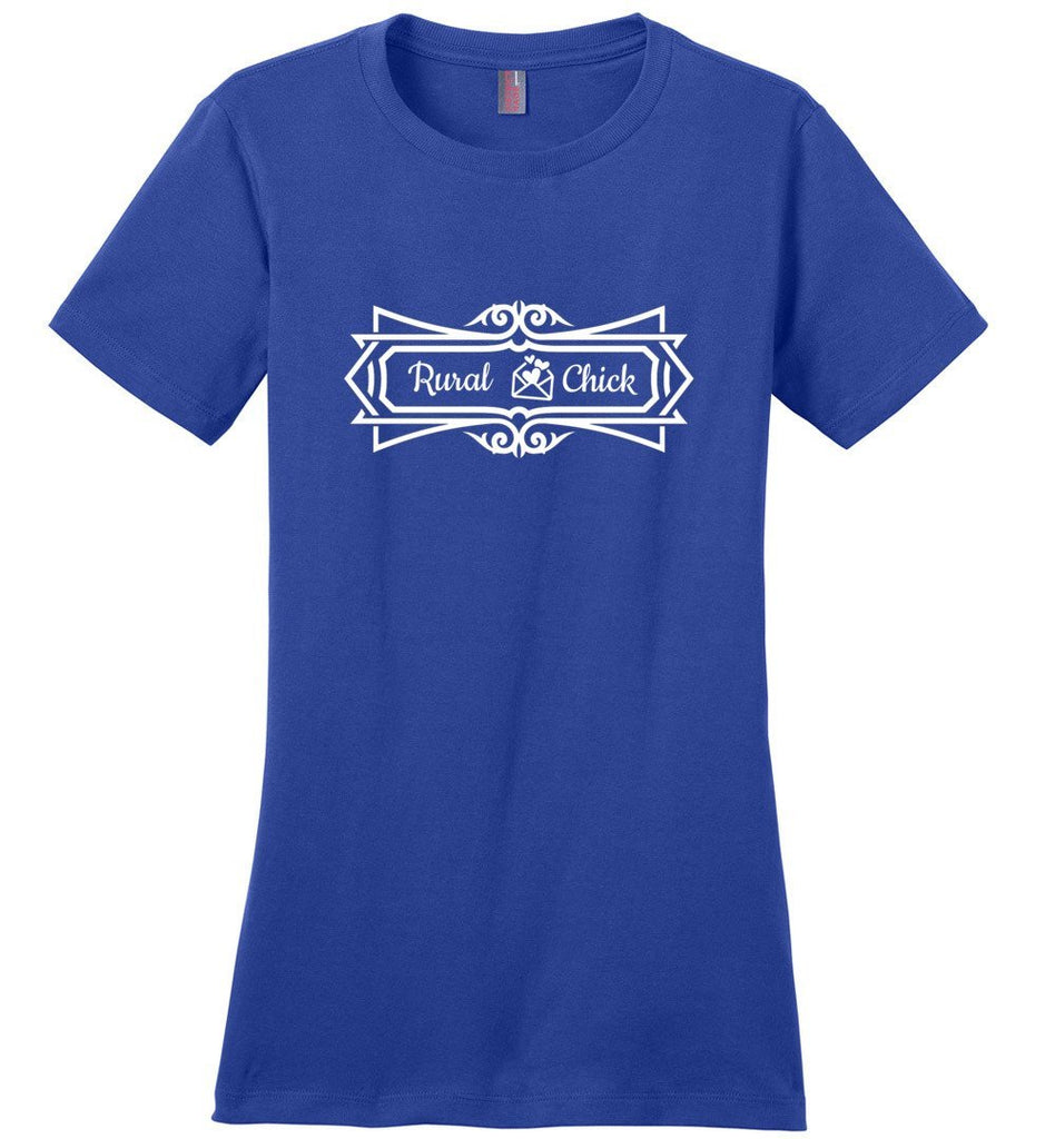 Postal Worker Tees Women's Deep Royal / S Rural Chick Decorative Women's Tshirt
