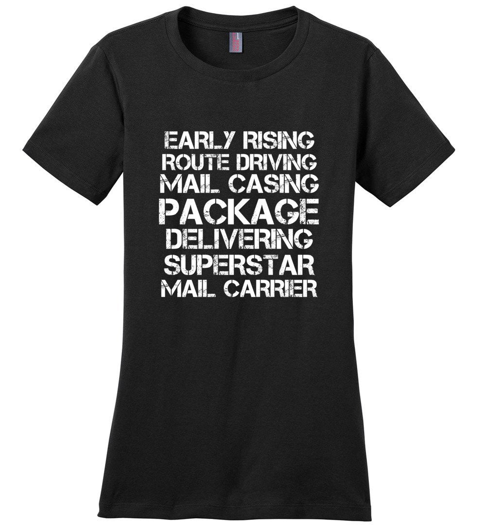 Postal Worker Tees Women's Black / S Superstar Mail Carrier Women's Tshirt