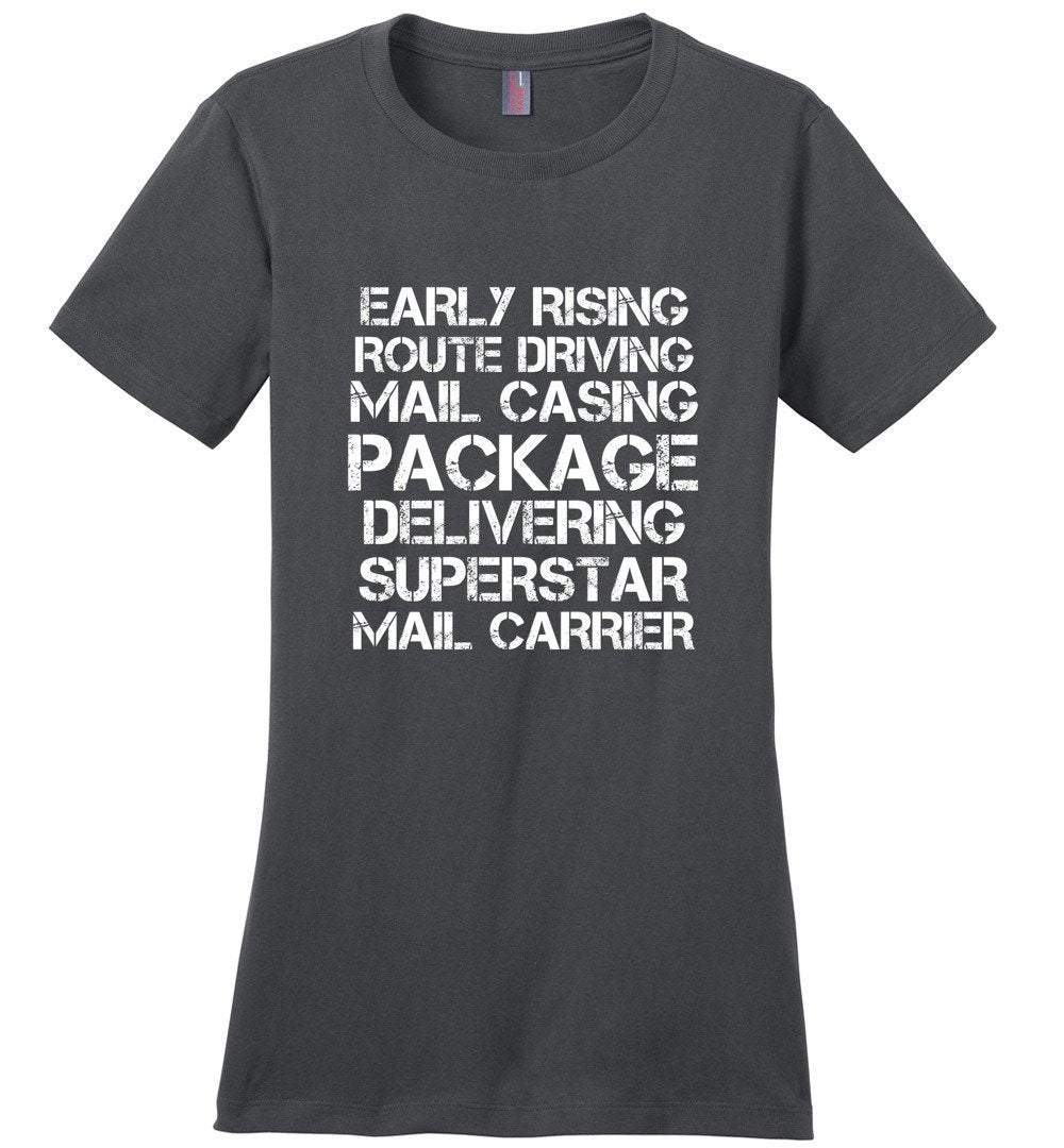 Postal Worker Tees Women's Charcoal / S Superstar Mail Carrier Women's Tshirt