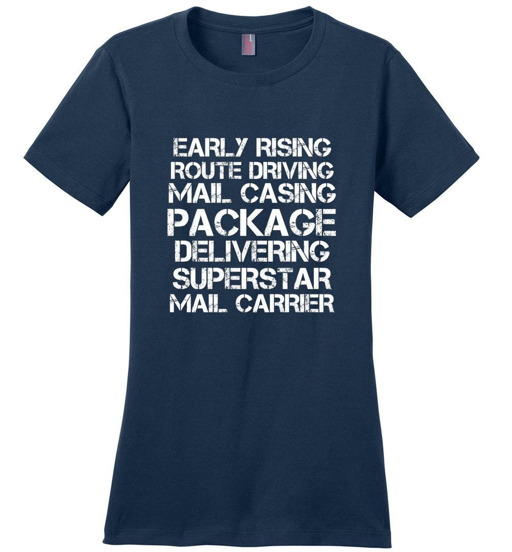 Postal Worker Tees Women's Navy / S Superstar Mail Carrier Women's Tshirt
