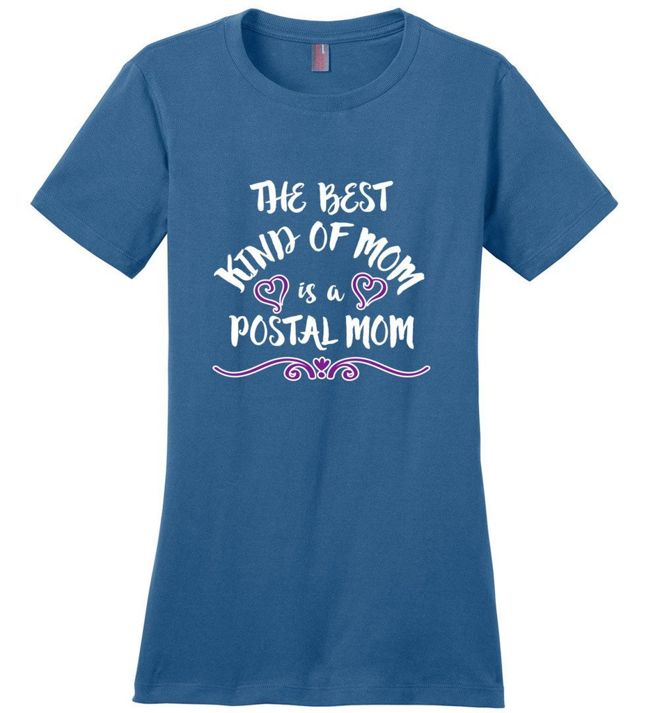 Postal Worker Tees Women's Maritime Blue / S The best kind of mom Tshirt- Women's Fitted