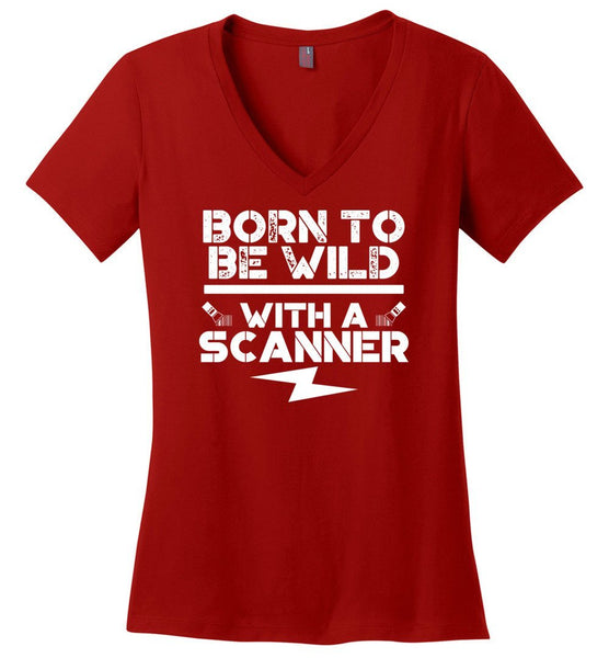 6f040afb ... Postal Worker Tees Women's V-Neck Red / S Born to be wild - With