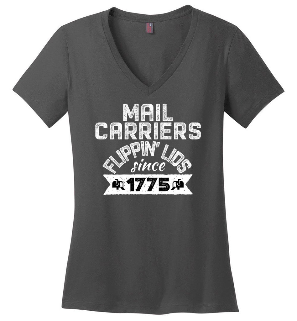 Postal Worker Tees Women's V-Neck Charcoal / S Flippin' lids since 1775 Women's V-Neck Tee