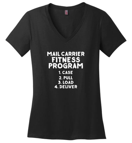 Mail Carrier Fitness program Women's V-Neck Tshirt