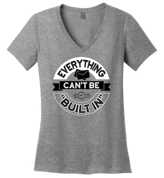 Postal Worker Tees Women's V-Neck Heathered Nickel / S Rural Carrier Everything can't be built in Women's V-Neck Tshirt