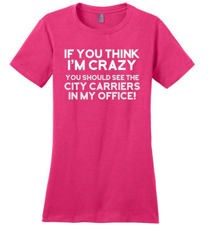 Postal Worker Tees Women's Dark Fuchsia / S You should see the city carriers Women's Tshirt