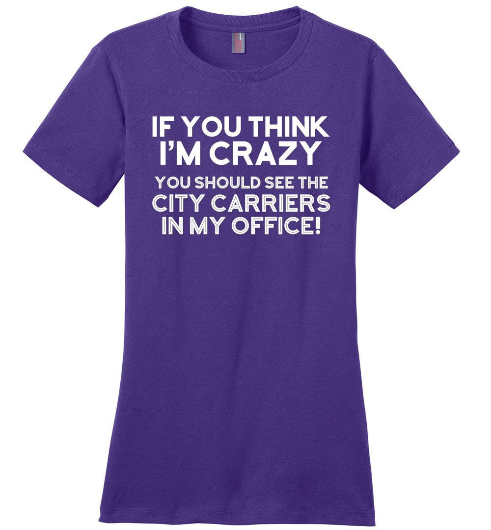 Postal Worker Tees Women's Purple / S You should see the city carriers Women's Tshirt