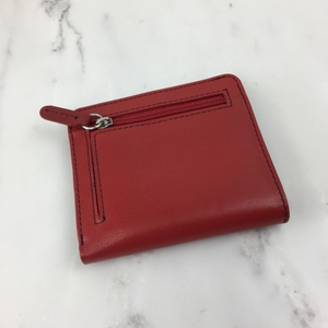 Bifold Zip Wallet - Red Black