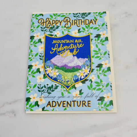 Mountain Adventure Patch and Birthday Card
