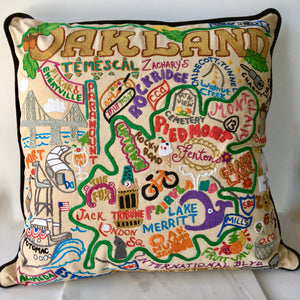 Oakland Hand Embroidered Pillow