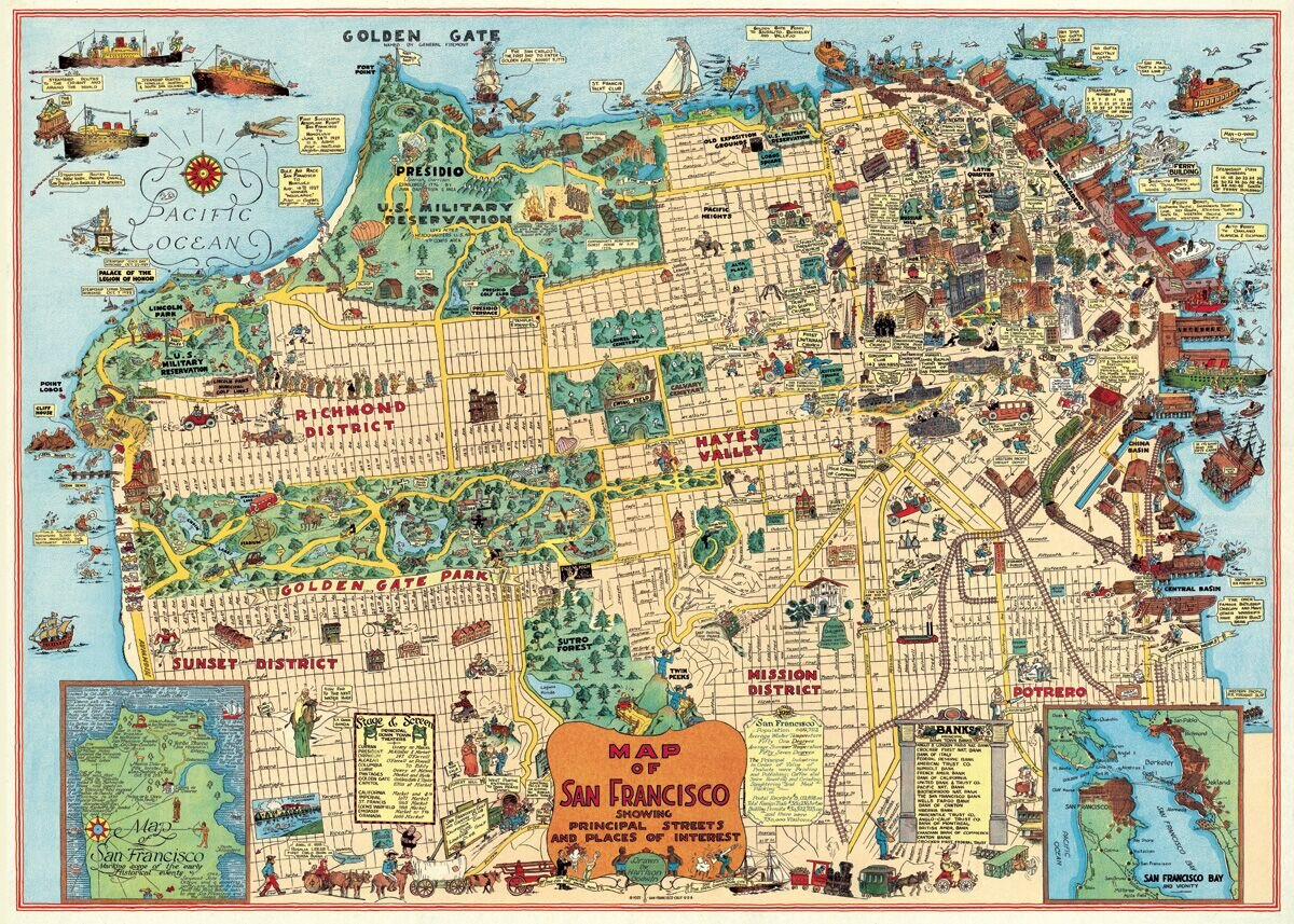 San Francisco Map Poster