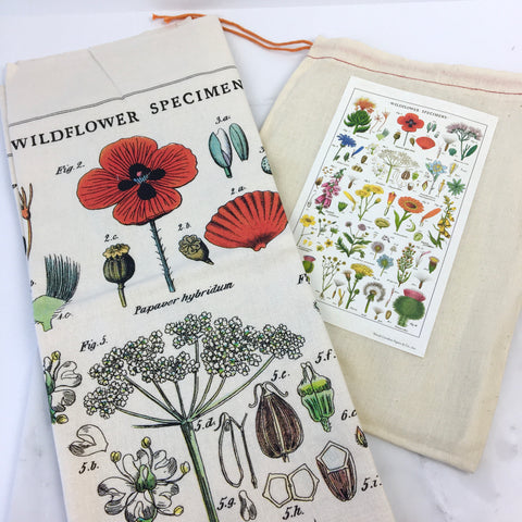 Wildflowers Tea Towel