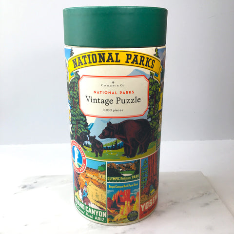 1000 Piece Vintage Puzzle - National Parks