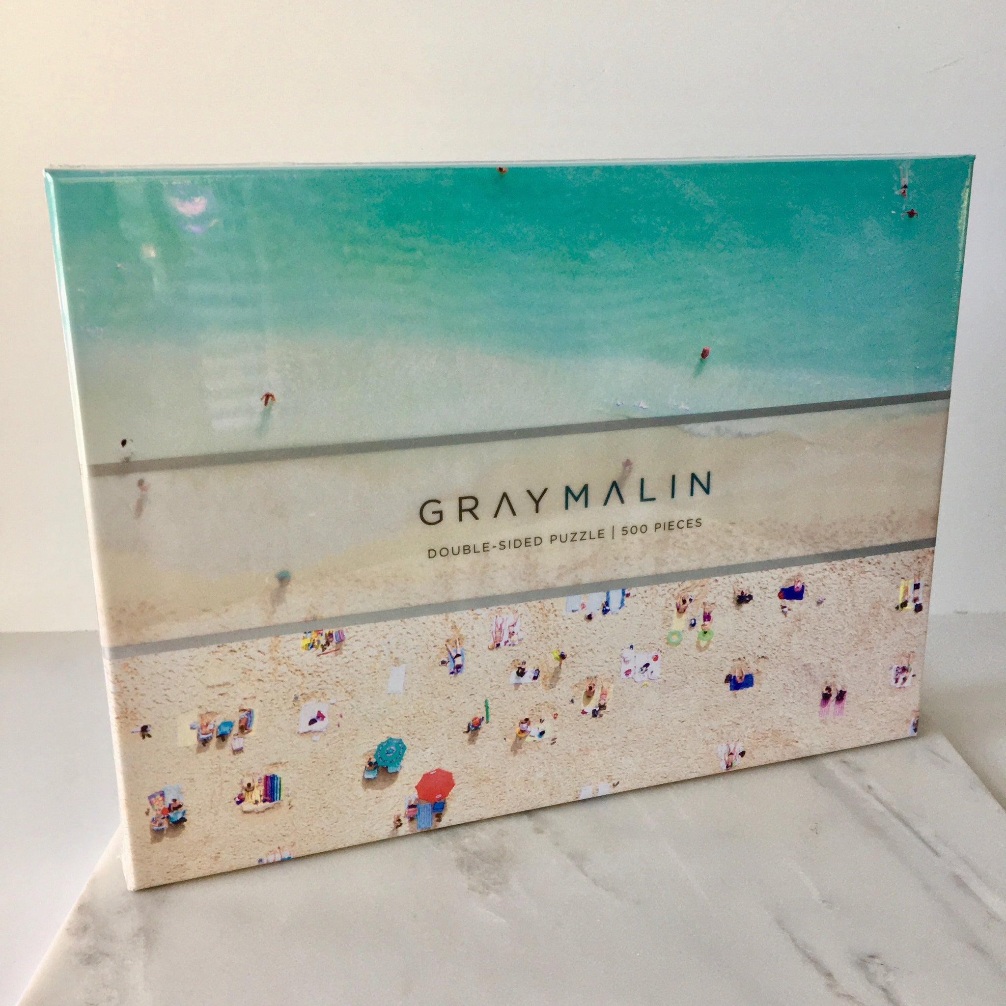 Double Sided 500 Piece Puzzle - Gray Malin Beach