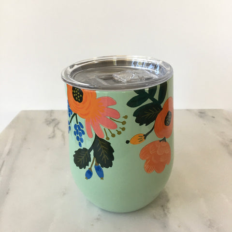 12oz Hot/Cold Stemless - Lively Floral
