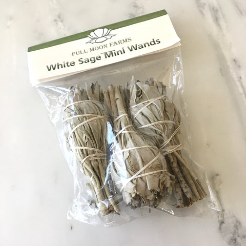 White Sage Mini Wands - Pack of 3