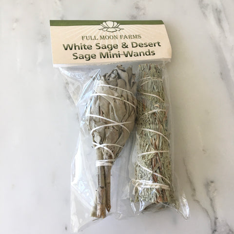 White Sage & Desert Sage Mini Wands