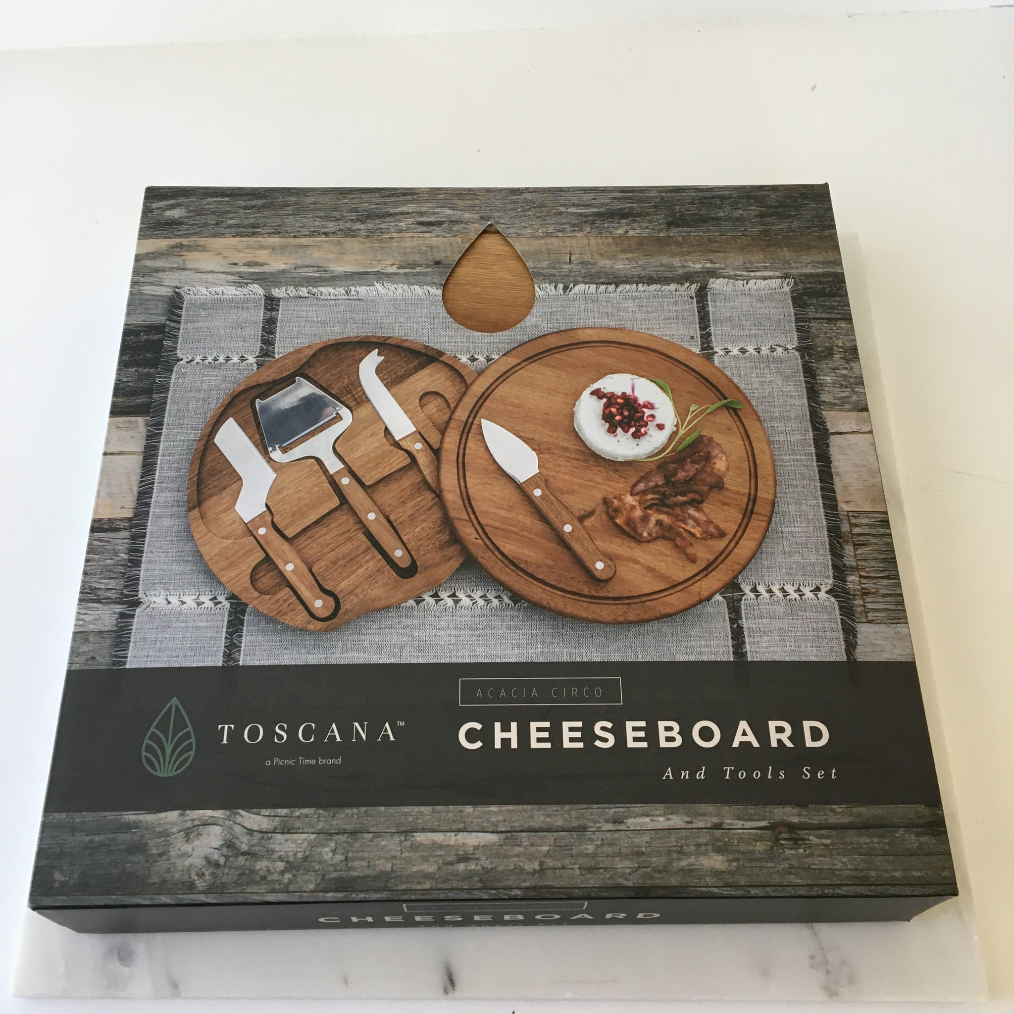 Acacia Brie Cheese Board & Tool Set
