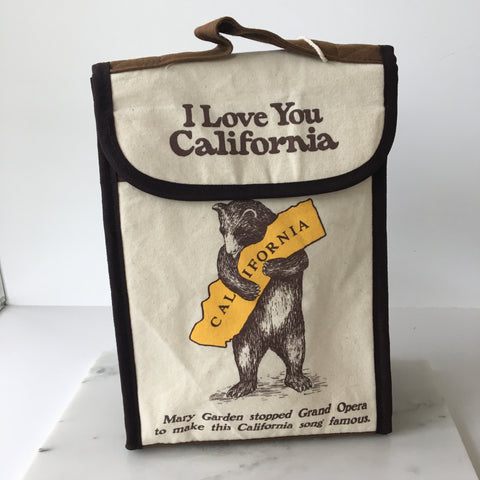 California Bear Hug Lunch Bag