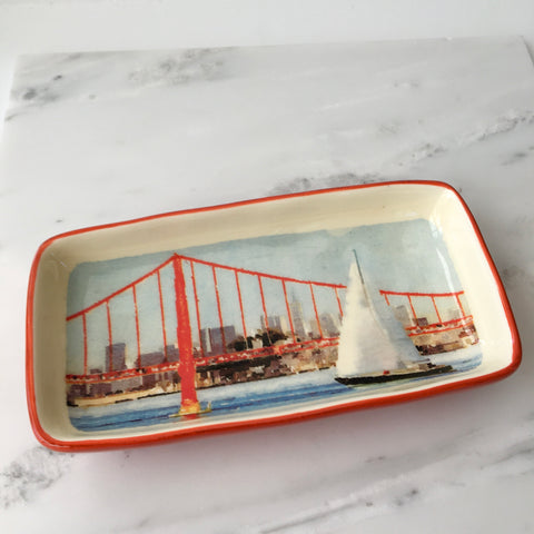 Golden Gate Sailboat Trinket Dish