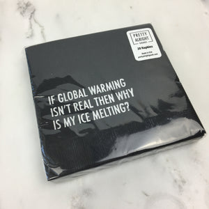 Cocktail Napkins - Global Warming
