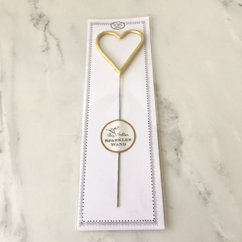 Gold Big Heart Wand Sparkler