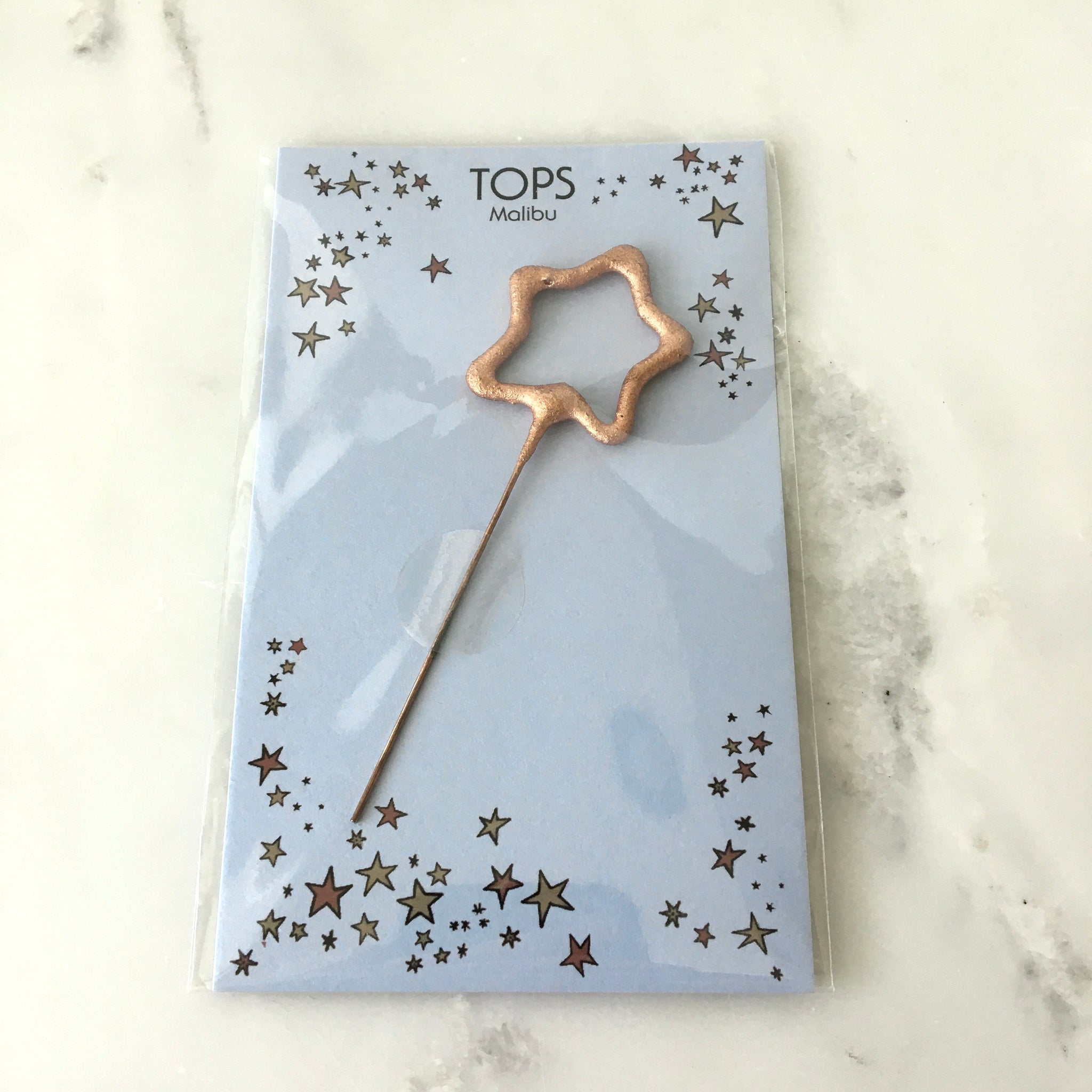 Rose Gold Sparkler Wish Card