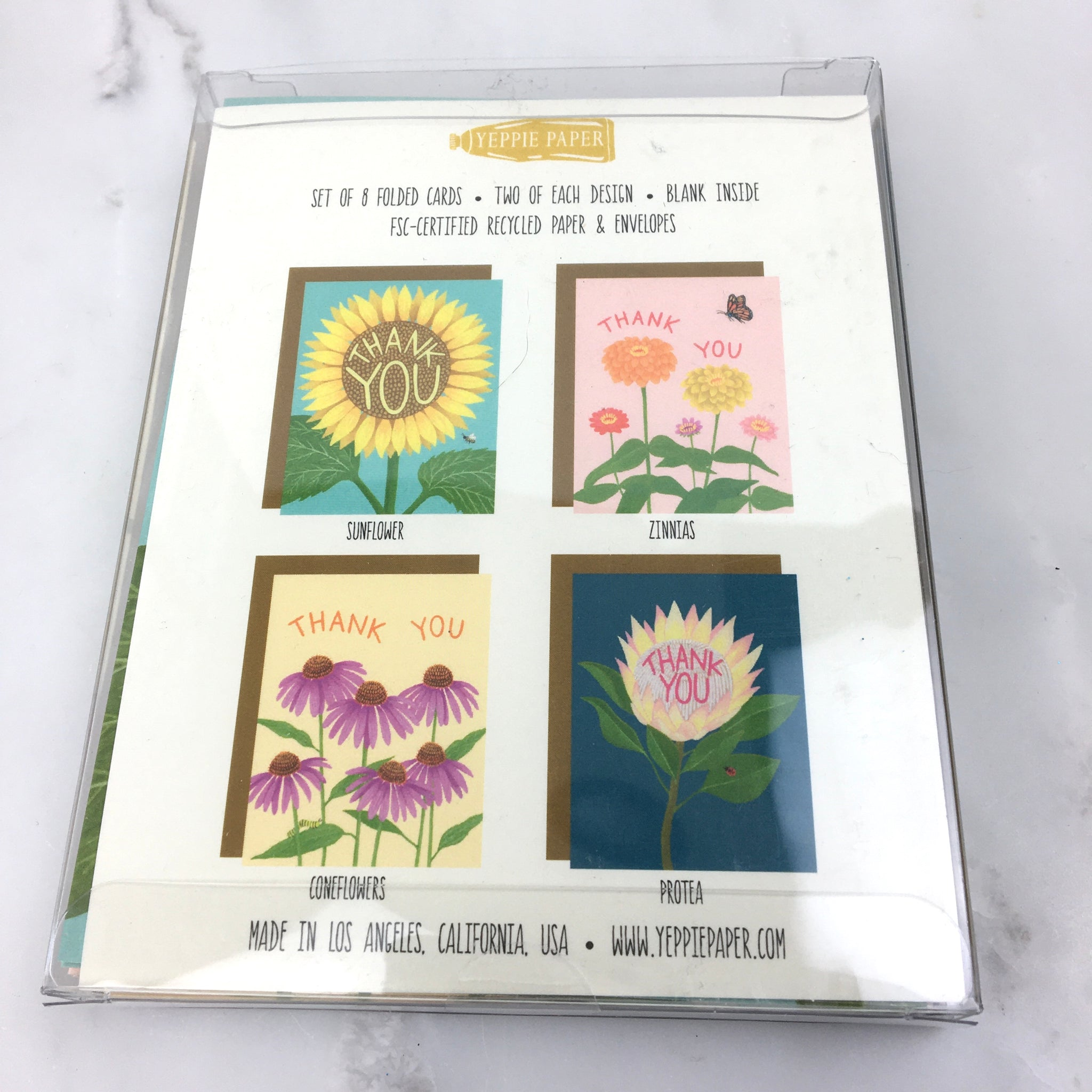 Flower Variety Thank You Card Set