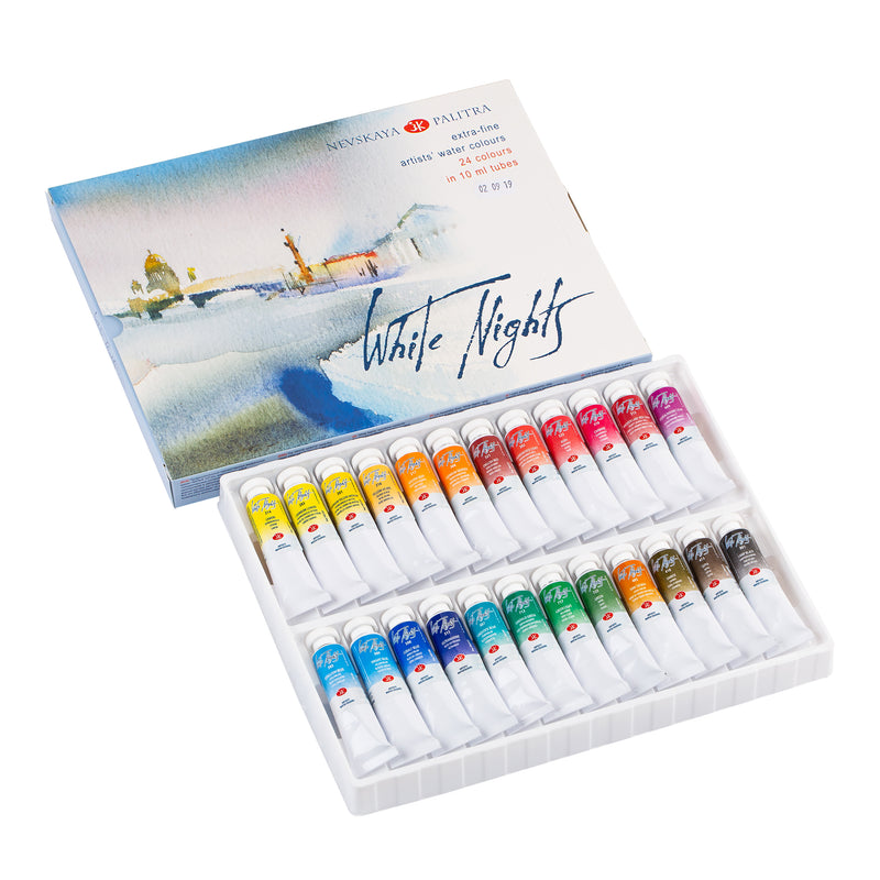 "Nevksaya Palitra ""White Nights"" Artists Watercolour Set of 24"