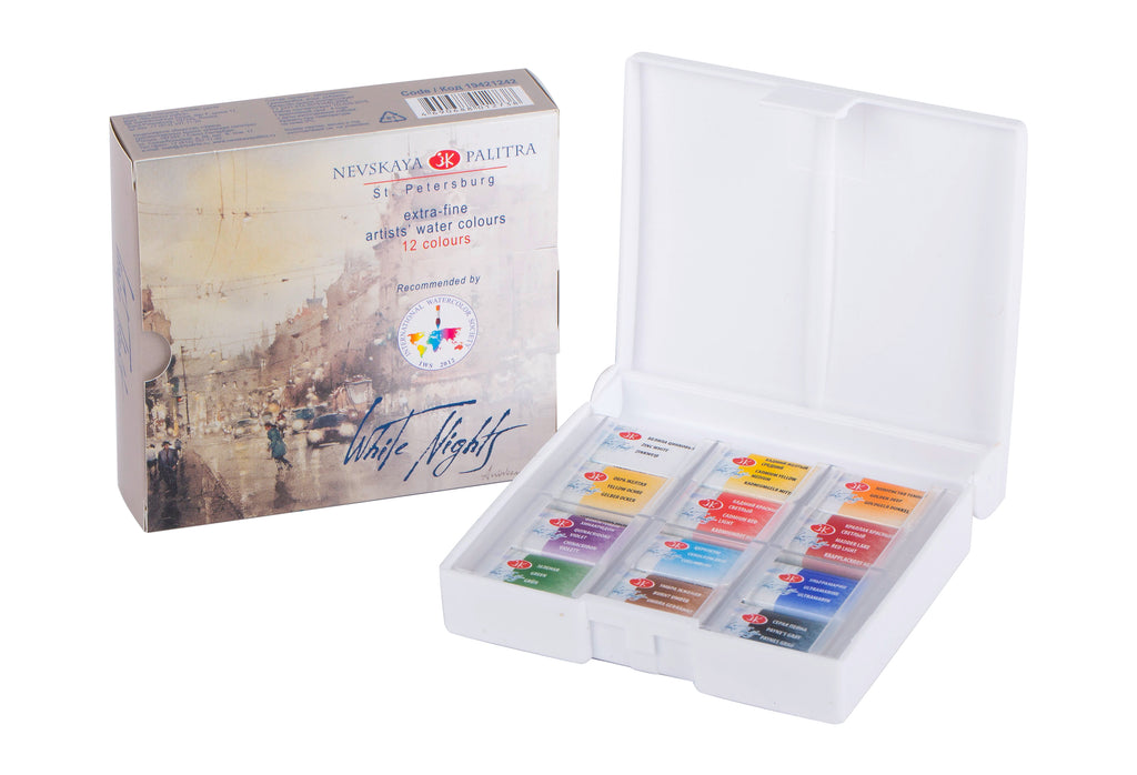 "Nevksaya Palitra ""White Nights"" Artists Watercolour Set of 12 IWS"