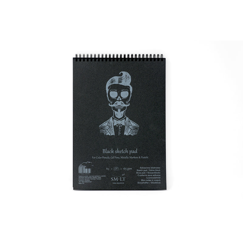 SM-LT Spiral Sketch Pad Authentic Black - SM-LT -  L.S.F. Group of Companies
