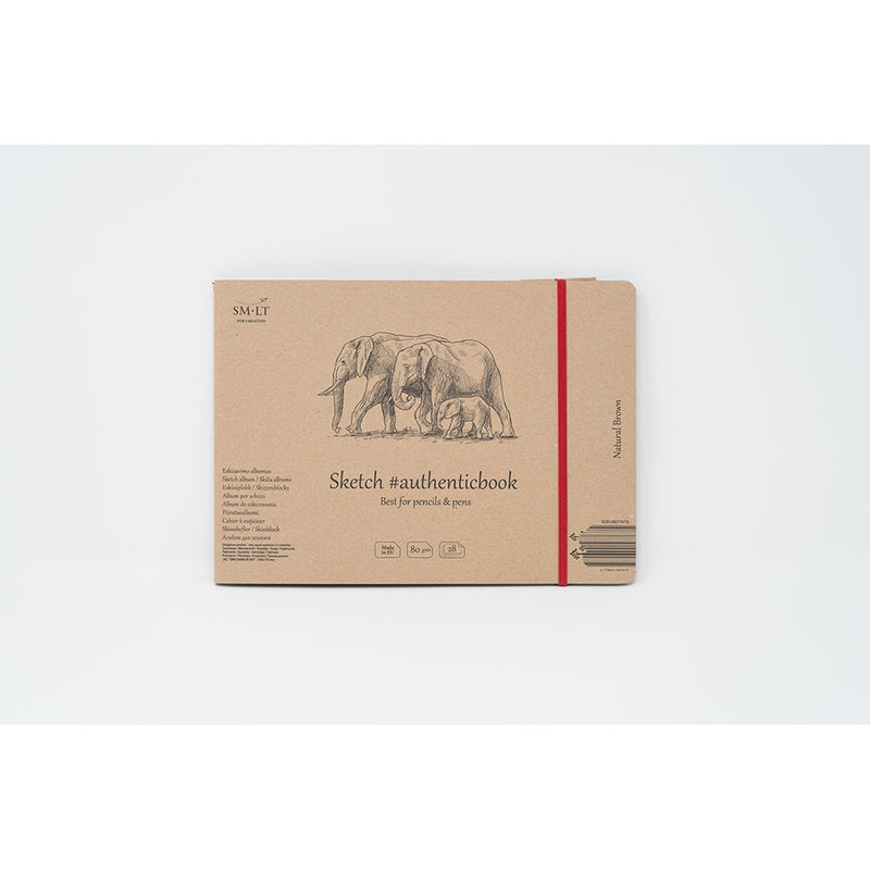 SM-LT Stitched Sketch Album Brown #authenticbook. - SM-LT -  L.S.F. Group of Companies