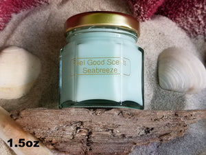 Seabreeze Candles Sizes 1.5oz thru 18oz