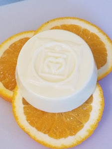 "Goats Milk Soap w/Orange Essential Oil ""Chakras"""