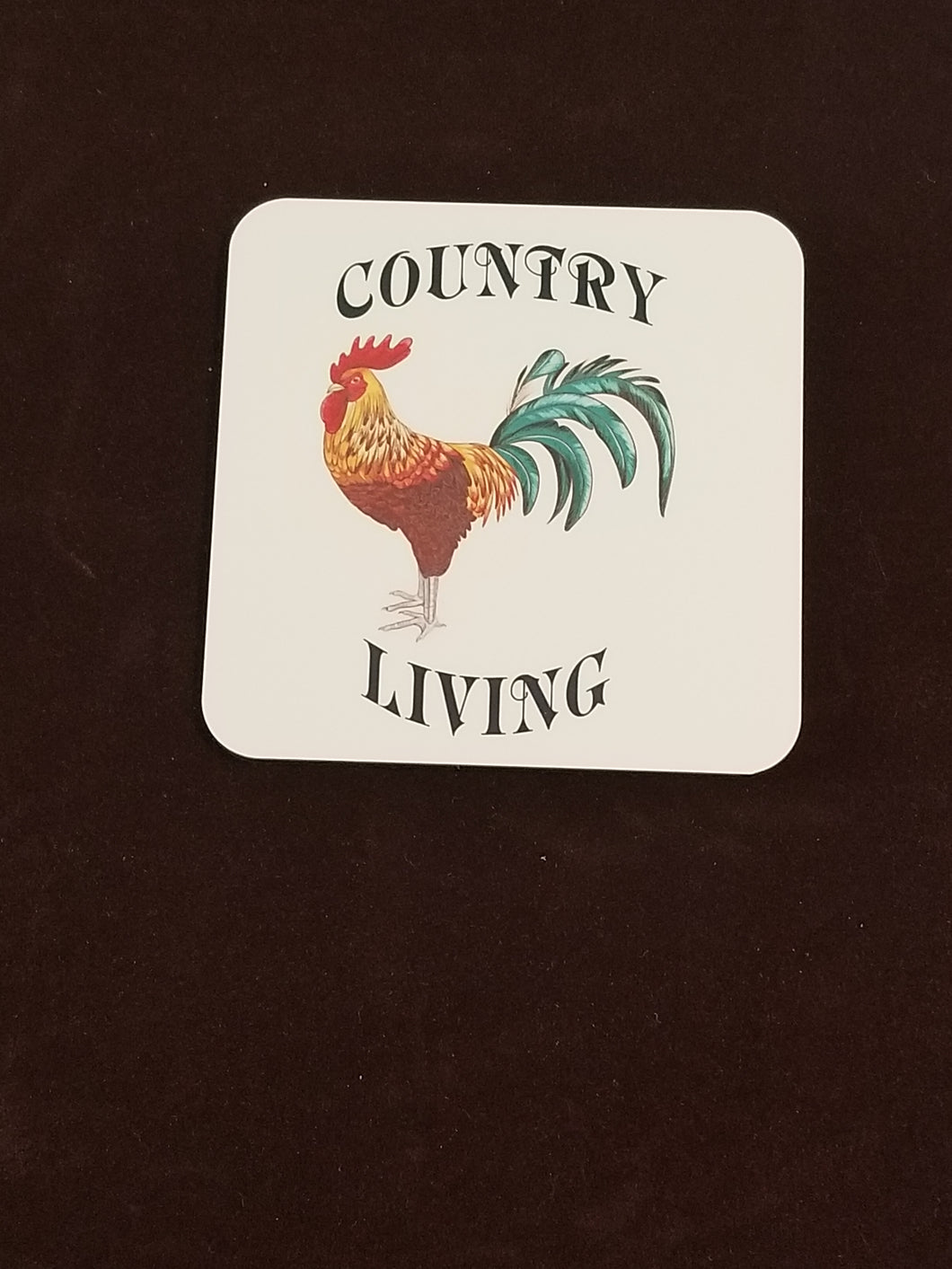 Country Living Rooster Drink Coasters