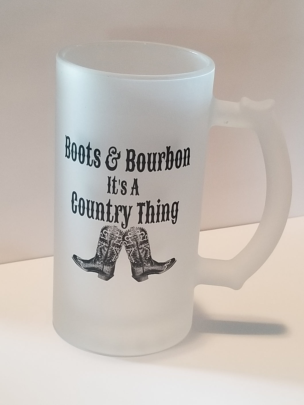 Bourbon & Boots Its A Country Thing Frosted Mug