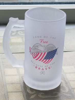 Land of the Free Because of the Brave Frosted Mug