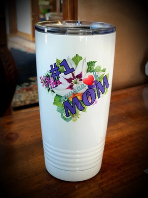 #1 Mom Drink Tumbler