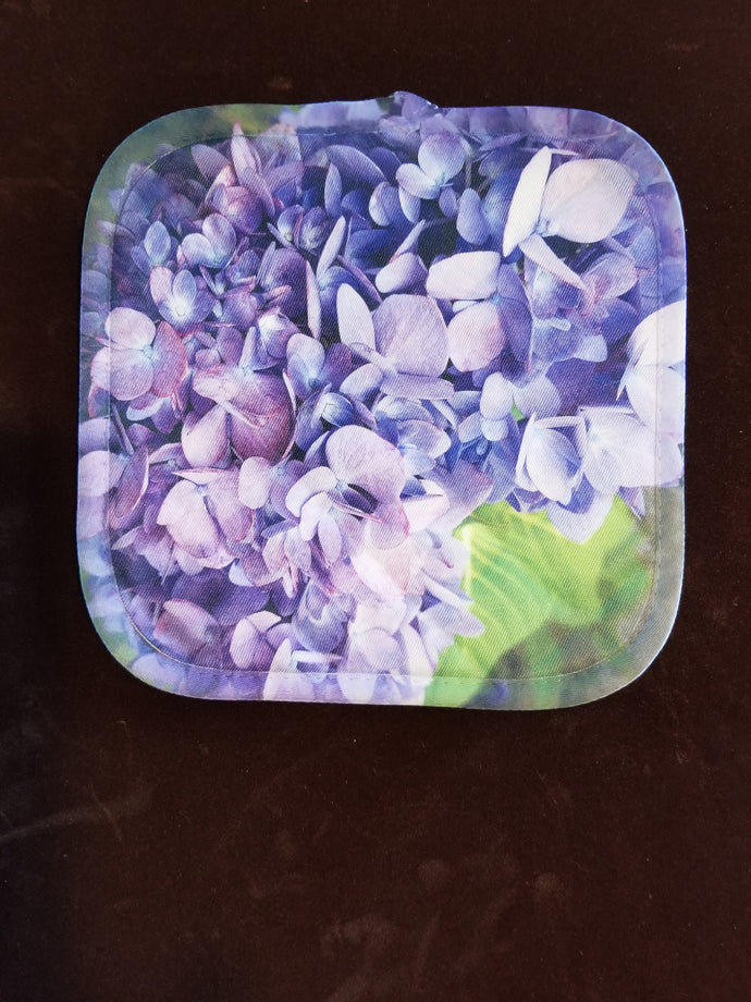 Purple Hydrangea Pot Holder