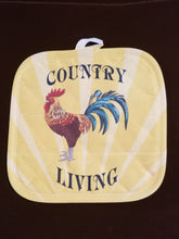 Load image into Gallery viewer, Country Living Rooster Pot Holder