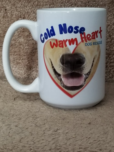 Cold Nose Warm Heart Dog Rescue Fundraiser Coffee Mug