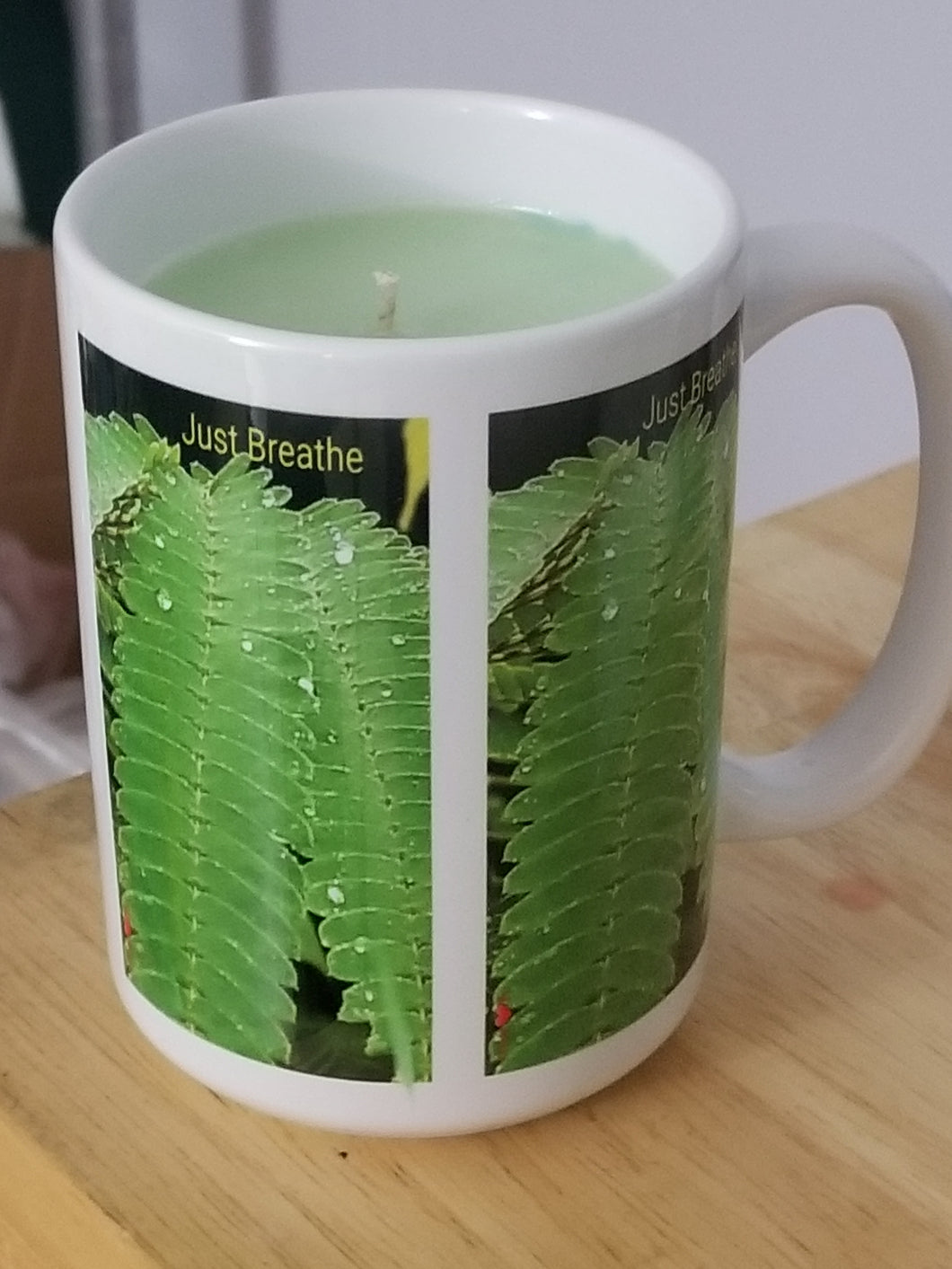 Just Breathe Bamboo Candle Mug