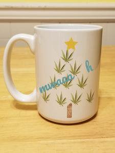 Merry Cannabis Christmas Tree Mug